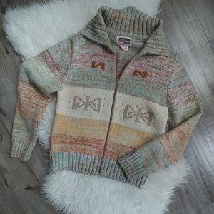 Vintage bohemian space dye sweater 70's